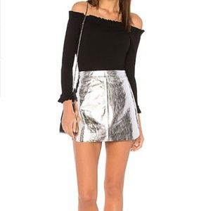 Karina Grimaldi Jacob Leather Mini Skirt XS 0610X